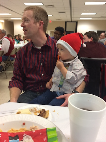 Christmas dinner at church