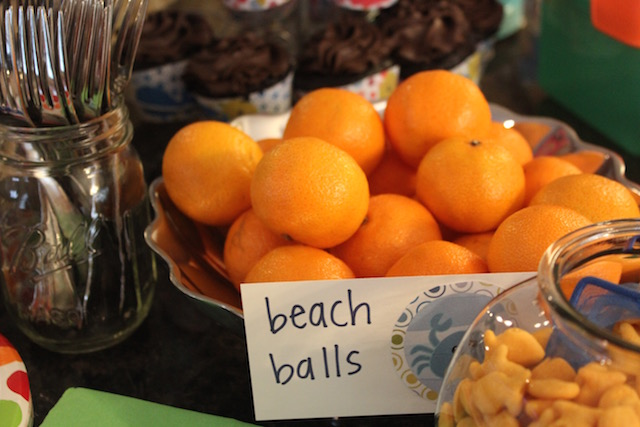beach ball oranges