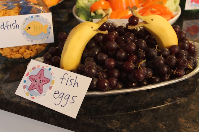 dolphin bananas and fish egg grapes