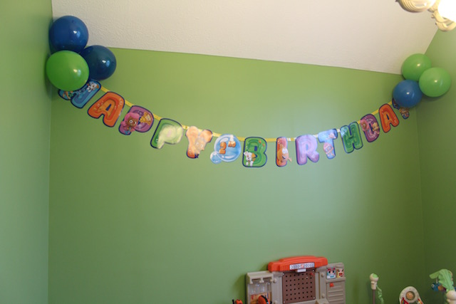 under the sea birthday party Bubble Guppies banner