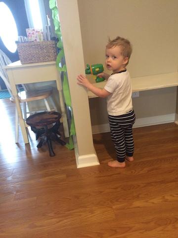 Hudson helping drill
