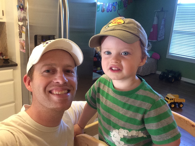 wearing hats with Daddy