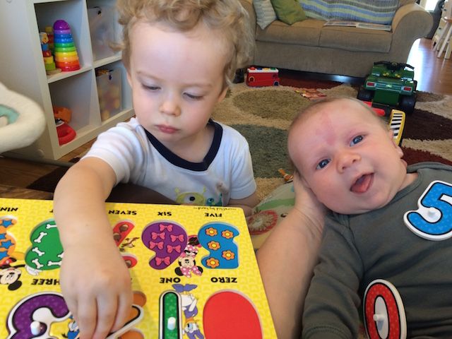sharing puzzles with brother