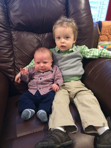 sweet brothers ready for church