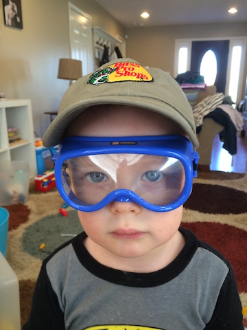 kid play safety goggles