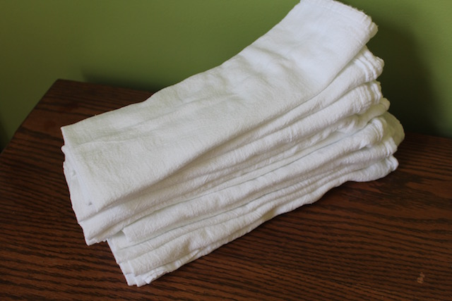 flour sack towels pad folded