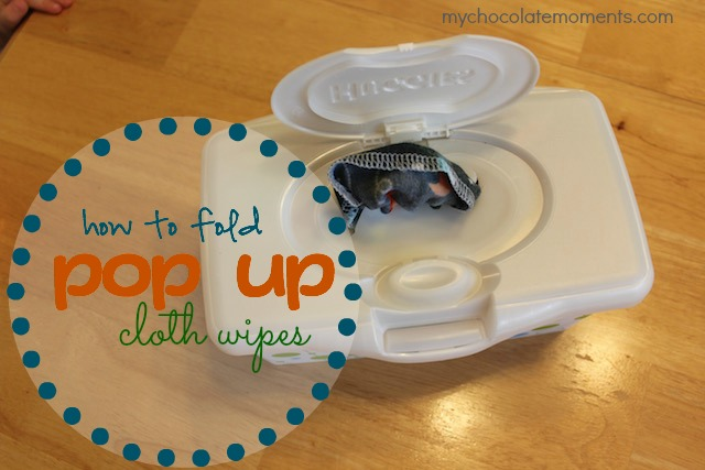 how to fold interlocking cloth wipes so they pop up from a dispenser