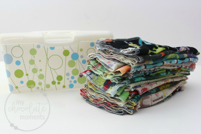 how to fold pop up cloth wipes