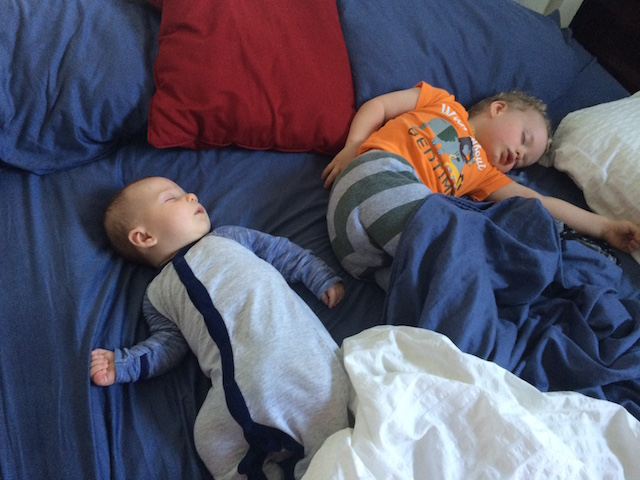 brothers napping