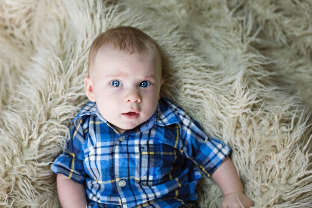 3 month pictures button down shirt
