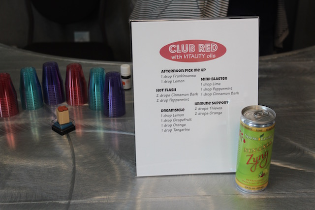 Spring Oily Bash station 5: Club Red with vitality oils