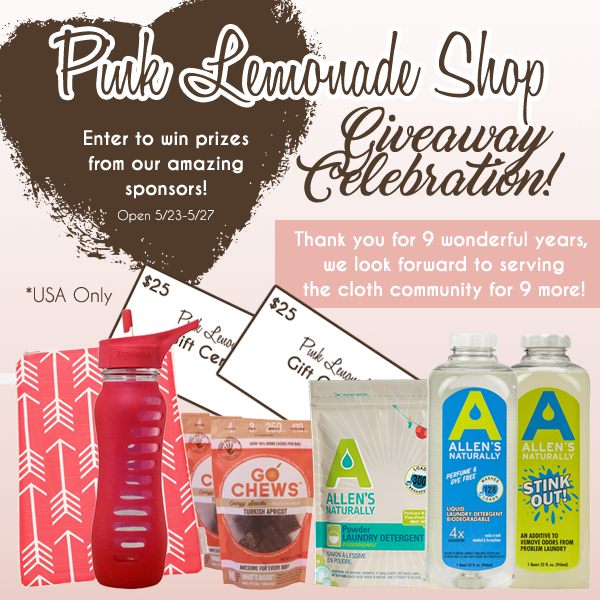 Pink Lemonade Shop's 9 year celebration giveaway