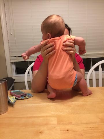 baby doing yoga