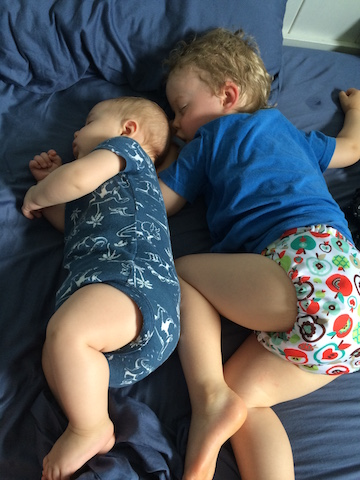 Hudson and Parker napping