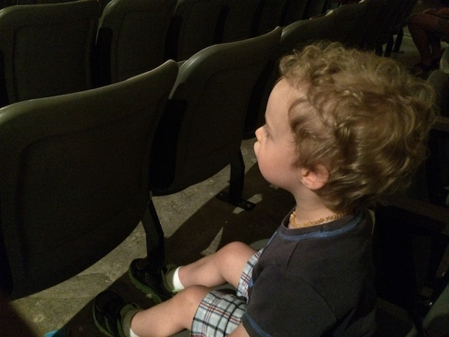 Hudson watching Oklahoma