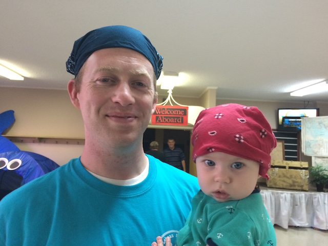 pirate hats at VBS