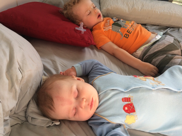 the boys napping