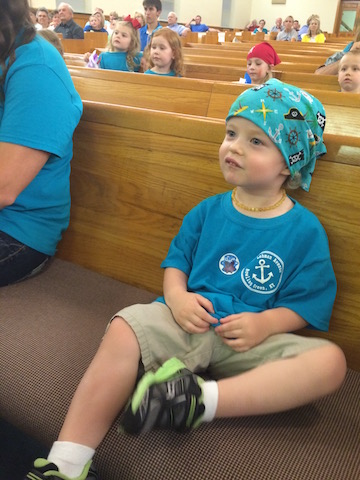pirate hat at Vacation Bible School