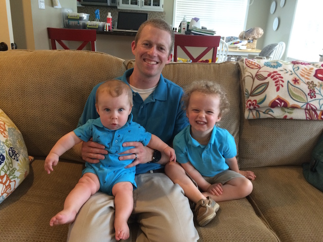 matching Daddy and boys for church