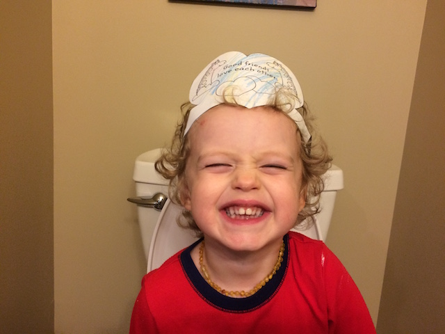 silly faces while potty training