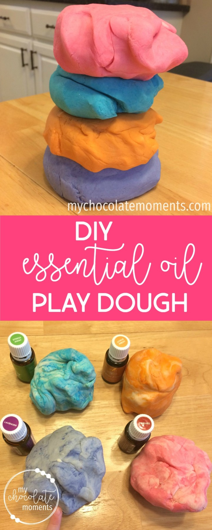 DIY essential oil play dough