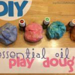 DIY playdough with essential oils