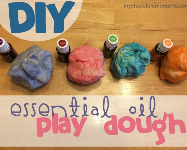 DIY playdough with essential oils