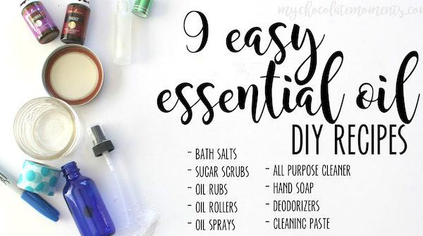 9 easy essential oil DIY recipes