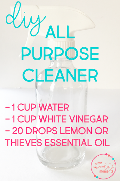 DIY all purpose cleaner with essential oils