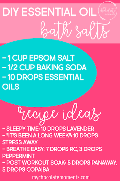 DIY essential oil bath salts recipe using Young Living essential oils