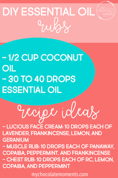 DIY essential oil rub recipes using Young Living essential oils
