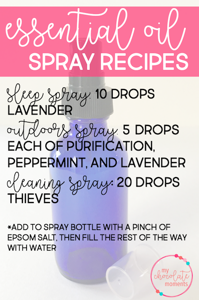 DIY essential oil spray recipes