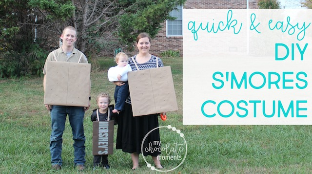 DIY s'mores costume for the whole family