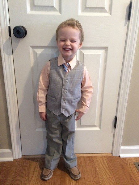 2 year old in a suit