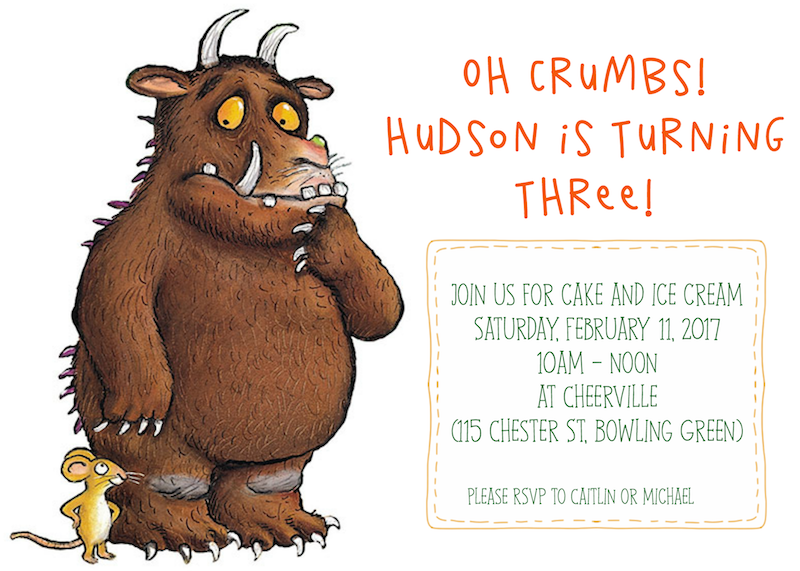 gruffalo party invitation