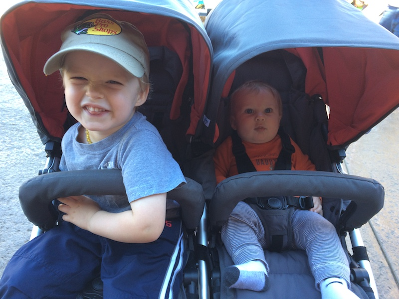 brothers at the zoo