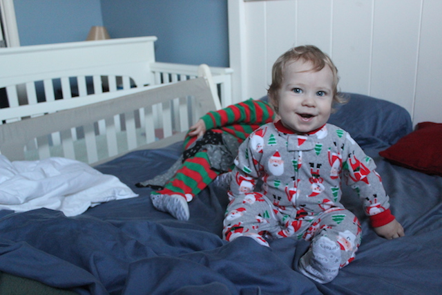 getting up christmas morning