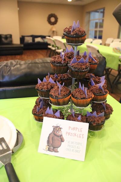 gruffalo party cupcakes