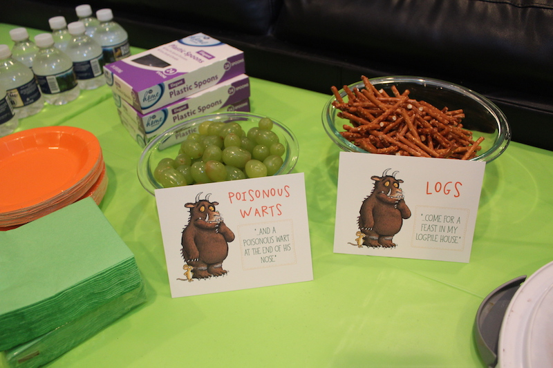 gruffalo party snacks