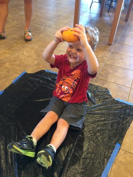 paining a pumpkin