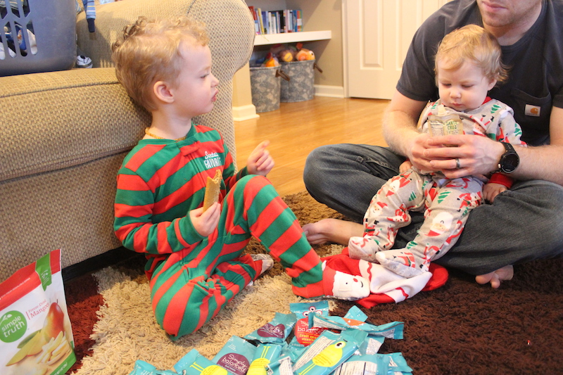 stocking snacks Christmas morning