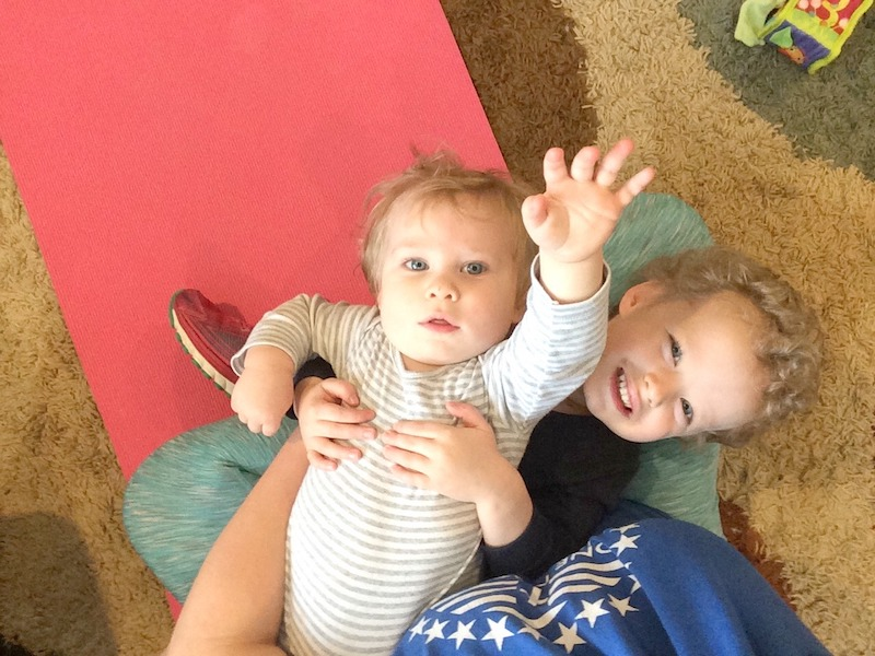 yoga with two little ones