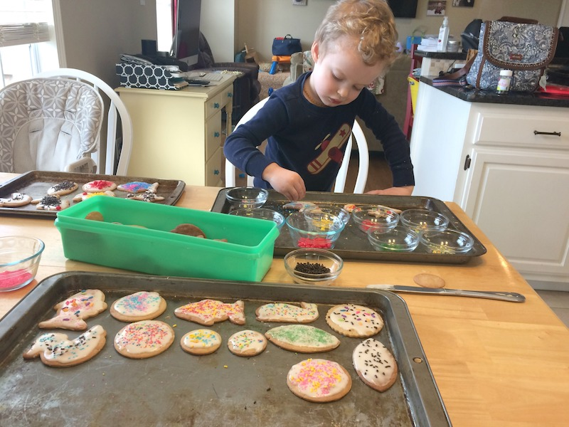 making homemade cookies