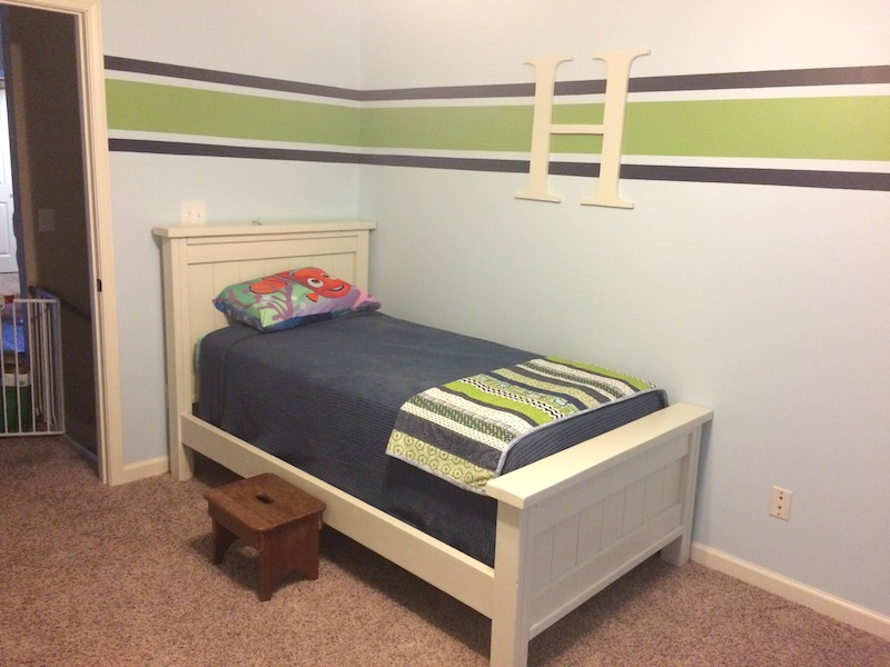 new homemade twin bed