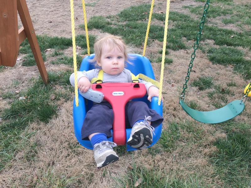 baby swing on the swingset