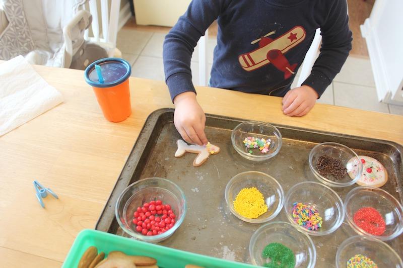 making cookies with sprinkles