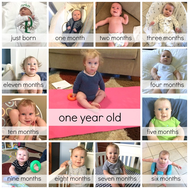 Parker one year collage