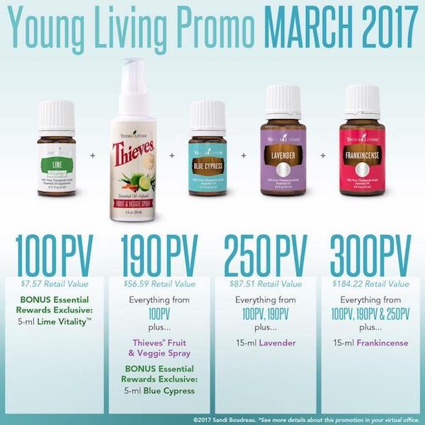 Young Living March 2017 promotion