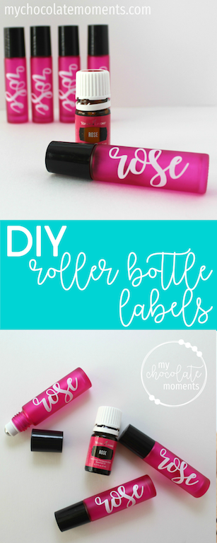 DIY essential oil roller bottle labels with vinyl | Silhouette | cricut