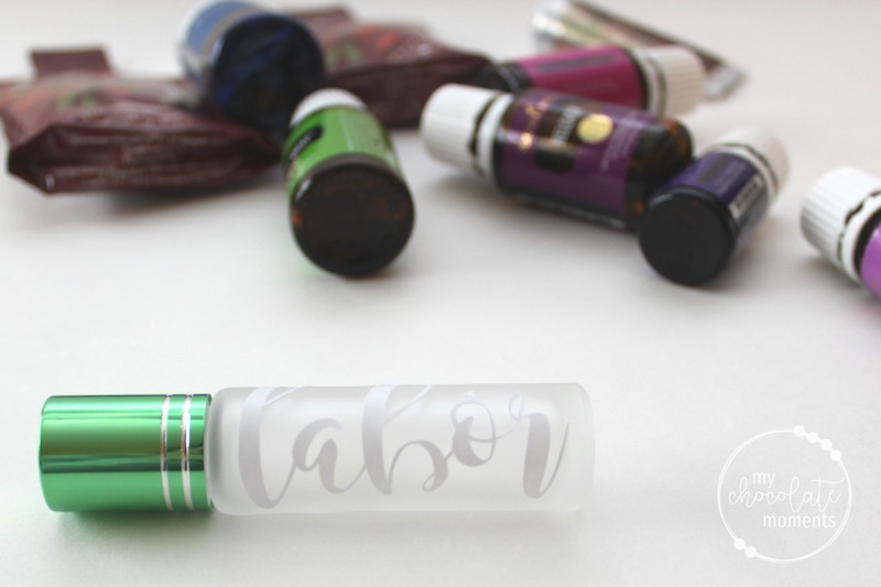 DIY essential oil roller bottle labels with vinyl